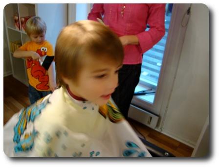 Sexåringen ska klippas.