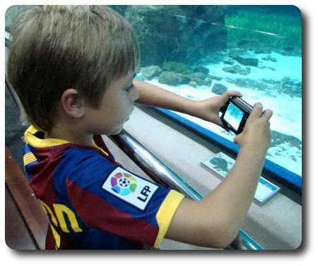 På akvarium i Barcelona