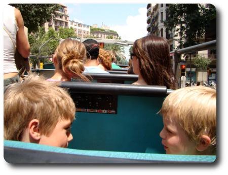 Bussrundtur i Barcelona.