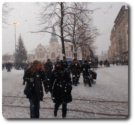 Snöigt värre i Karlshamn