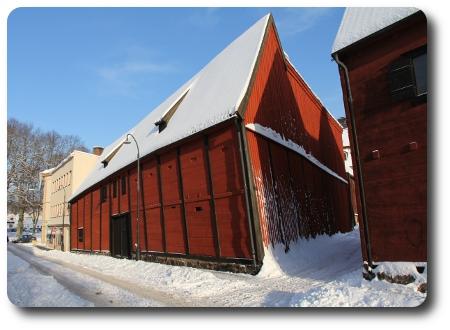 Kulturkvarteren i Karlshamn i vinterskrud