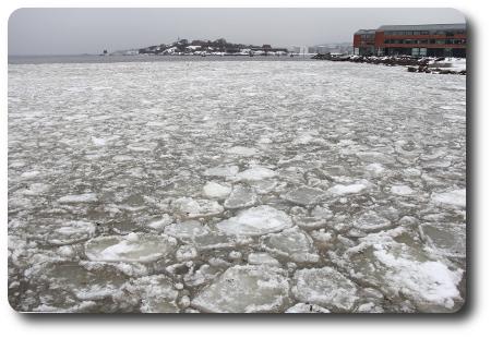 Isflak i Karlshamn i söndags