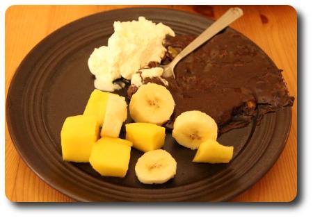 Mango och bananas till världens kladdigaste kladdkaka