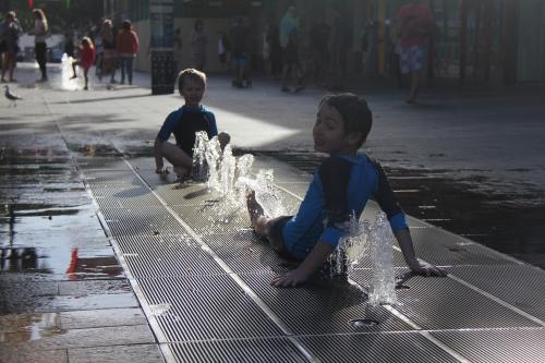 Vattenlek i Manly 4